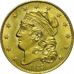 1833 capped bust gold piece obverse