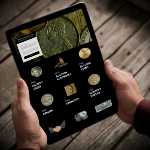 coin dealer directory tablet mobile