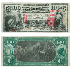 Garfield National Bank of the City of New York, $100, 12/15/1881
