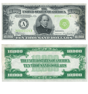 $10,000 Federal Reserve Note, Series 1934, Boston