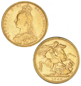 Great Britain, Victoria, 1889, Gold Sovereign