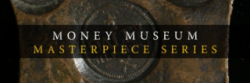 money museum masterpiece logo banner
